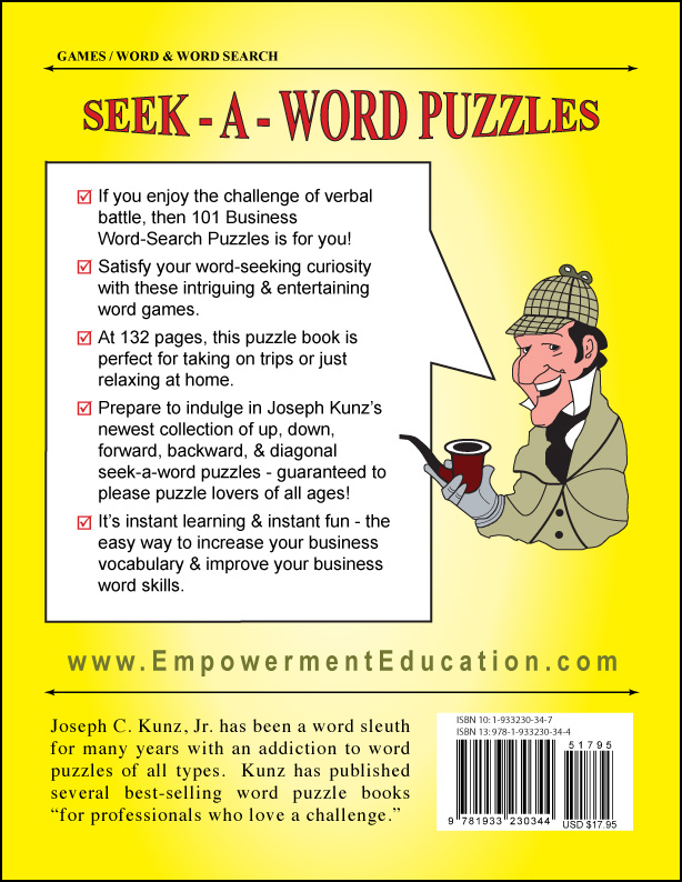101 Business Word-Search Puzzles, by Joseph C. Kunz, Jr.