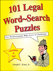 101 Legal Word-Search Puzzles front cover