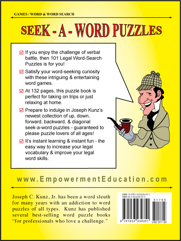 101 Legal Word-Search Puzzles back cover