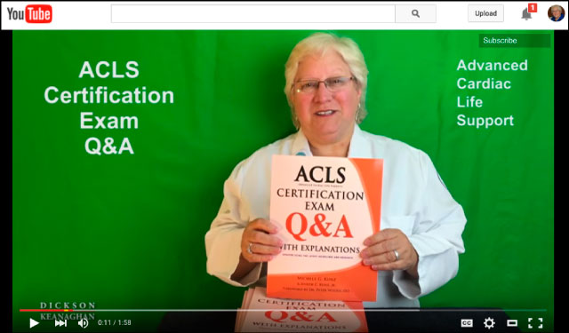 YouTube Video Of ACLS Certification Exam Q&A With Explanations Book by Michele G. Kunz