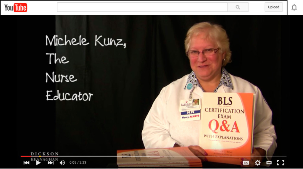 YouTube Video Of BLS Certification Exam Q&A With Explanations Book by Michele G. Kunz
