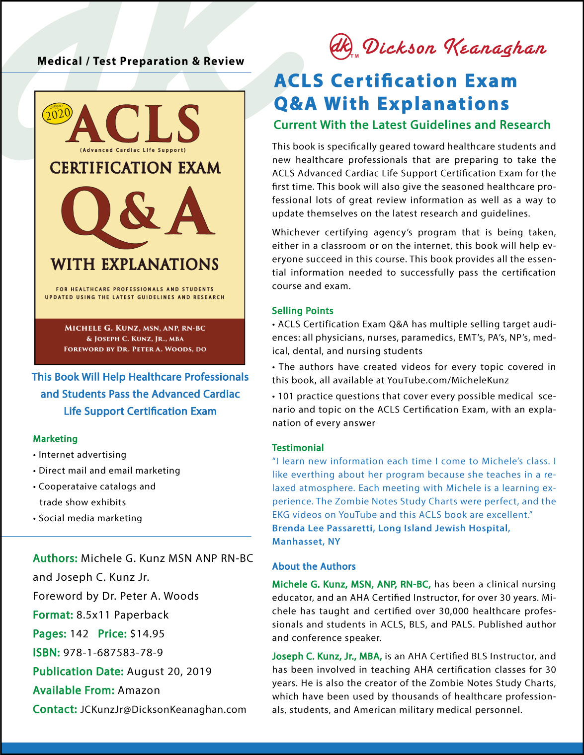 ACLS Certification Exam Q&A With Explanations sell sheet