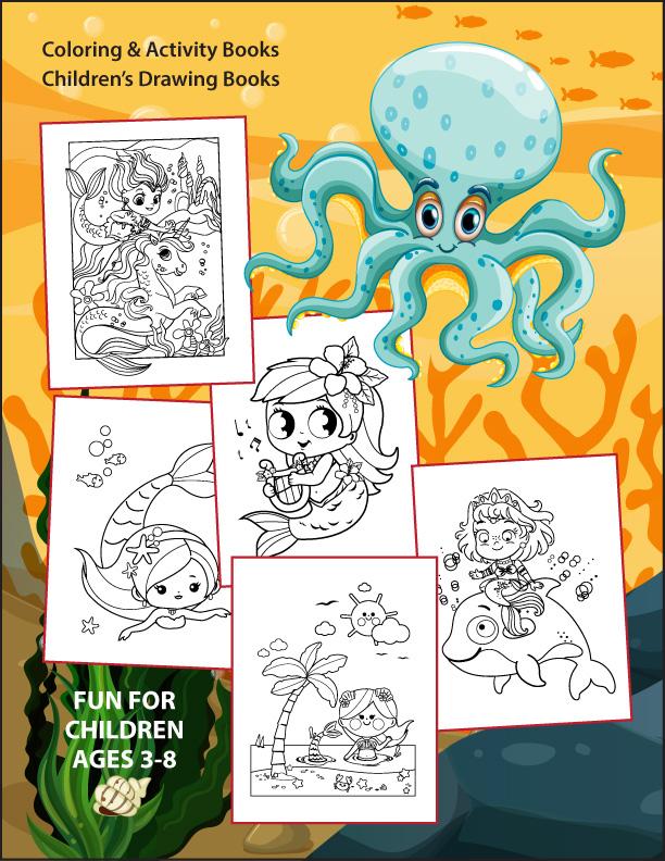 Mermaid-Coloring-Book-back-cover