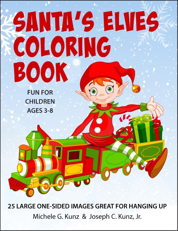 Santas-Elves-Coloring-Book-front-cover