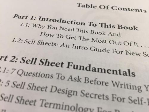 The Sell Sheet Book Images 4